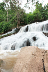 Song Korn waterfall in Lei Thailand