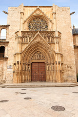 Eingang zur Kathedrale von Valencia, Spanien
