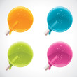 Vector colorful lollipops