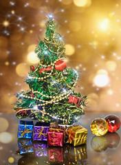 decorated Christmas fir tree