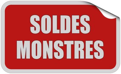 Sticker rot eckig curl oben SOLDES MONSTRES