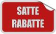 Sticker rot eckig curl oben SATTE RABATTE