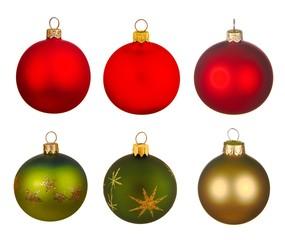 Real Christmas Balls set.
