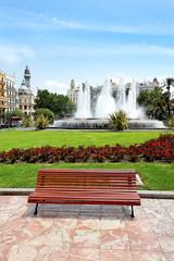 Plaza del Ayuntamiento, Valencia, Spanien