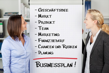 businessplan am flipchart