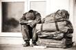Leinwanddruck Bild - homeless