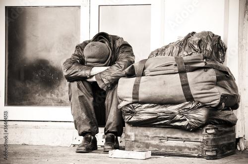Leinwanddruck Bild homeless