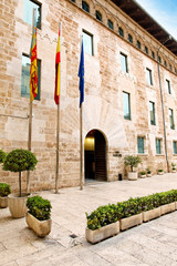 Eingang Corts Valencianes, Valencia, Spanien