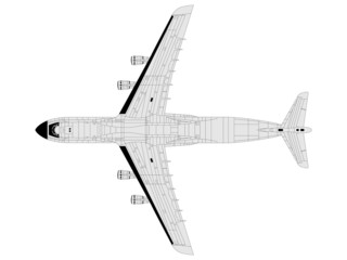 high detailed vector of modern military airplane