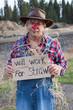 Panhandling scarecrow