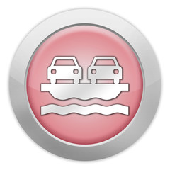 "Light Colored Icon (Red) ""Vehicle Ferry"""