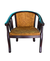 modern wooden armchair