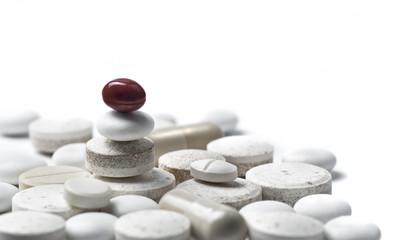 zen style pills isolated on white