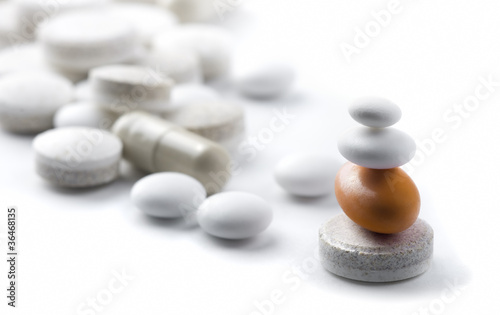 pills on white background metaphor