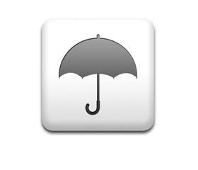 Boton cuadrado blanco simbolo paraguas