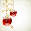 Sfondo natalizio - Christmas baubles and ribbons
