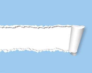 Papier zerrissen
