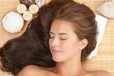 Fototapety Beautiful woman at spa salon