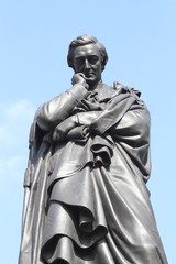 Close up of Lord Sidney Herbert Statue