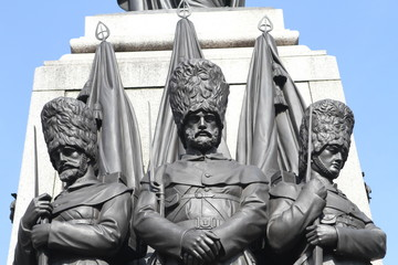 Close up of Guards on Crimean Memorial Statue