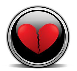 broken heart, black