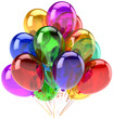 Balloons party happy birthday decoration multi colored