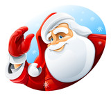happy Santa Claus face greeting