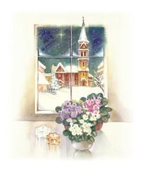 Watercolor Landscape Collection: Wintertime