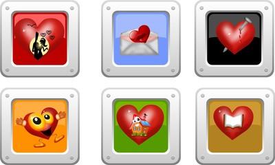 bottoni cuore