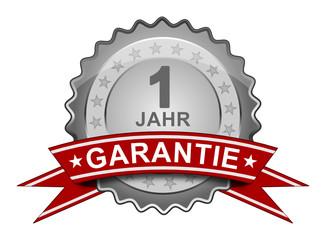 1 Jahr Garantie - Plakette