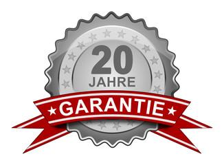 20 Jahre Garantie - Plakette
