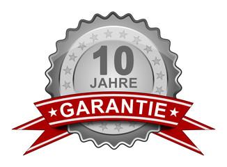 10 Jahre Garantie - Plakette
