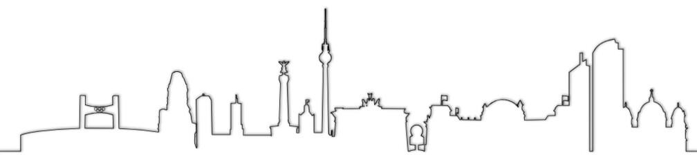 Skyline Berlin Linienkontur