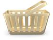 Gold shop basket