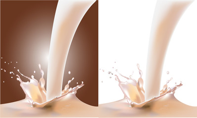 the milk. realistic vector illustration