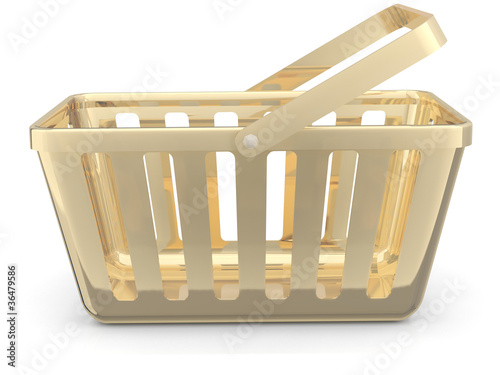 Gold shop basket