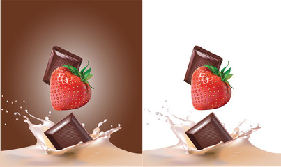 strawberries, milk and chocolate.