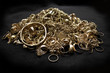Pile of scrap gold jewelry