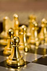 Il pedone dà inizio alla partita di scacchi