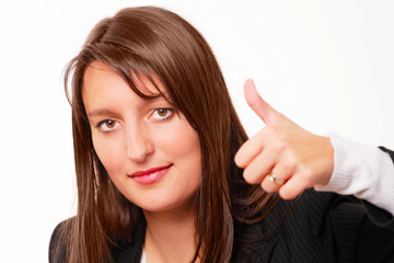 Thumbs up - confident female boss