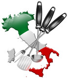 International cuisine made in Italy poster