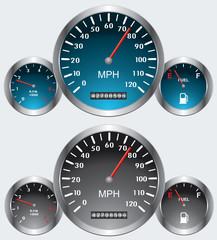 car dashboards, vector