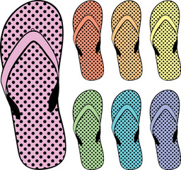 flip flops clipart, vector