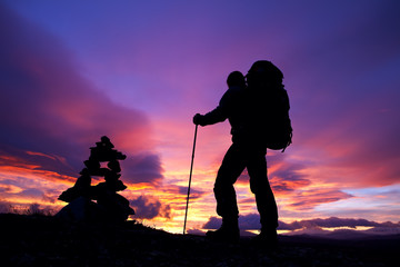 Trekking zu Sonnenaufgang