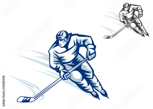 Moving hockey player