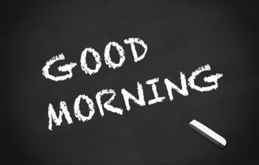 Kreidetafel Good Morning