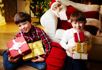 Boys with gifts