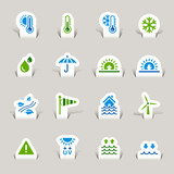 Papercut - Weather icons poster