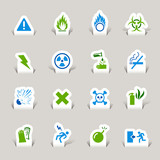 Papercut - Warning icons poster