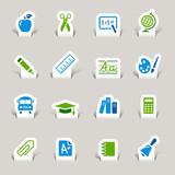 Papercut - School Icons poster